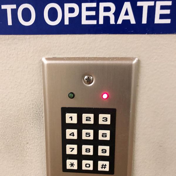 keypad ACS system installed