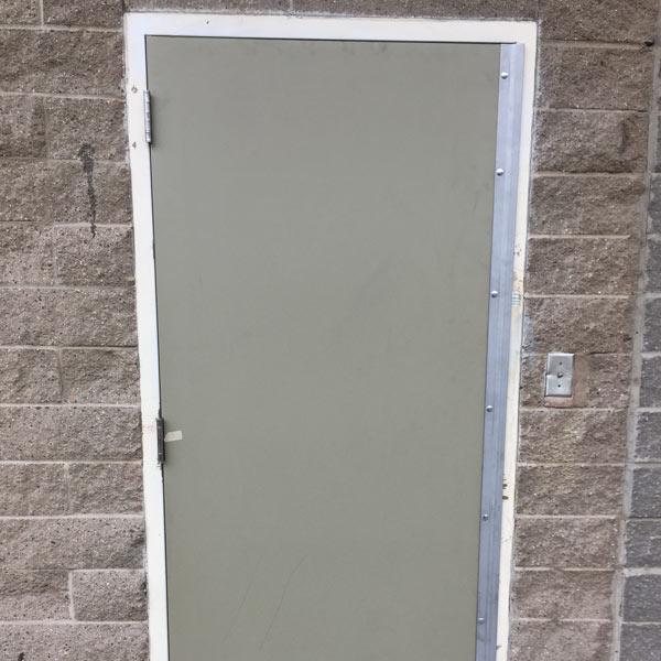 a galvanized steel door