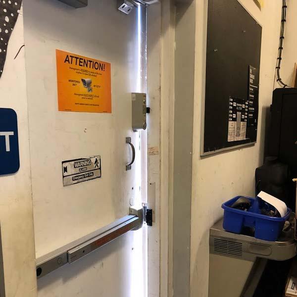 security door installation