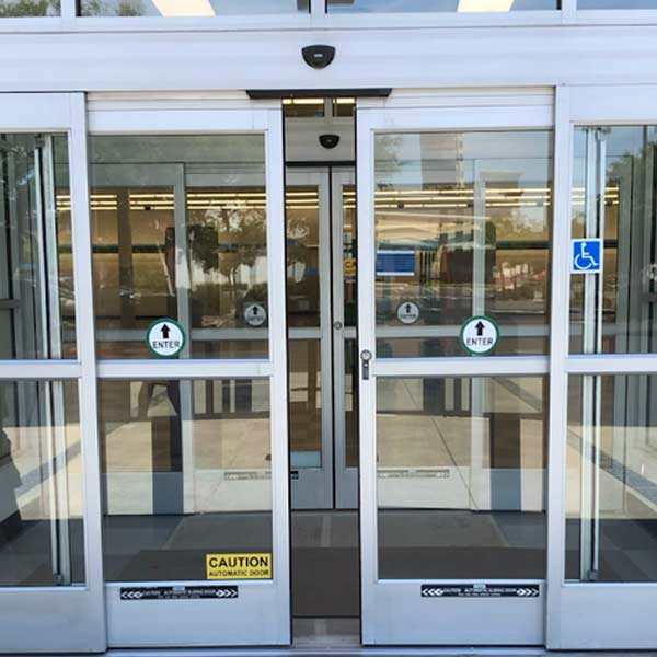our team finished an automatic door repair in Pleasanton