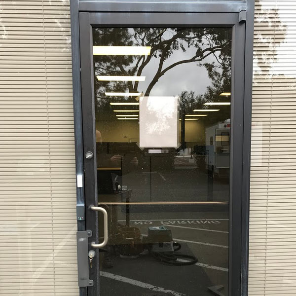one of the commercial doors in Fremont that was installed by our team