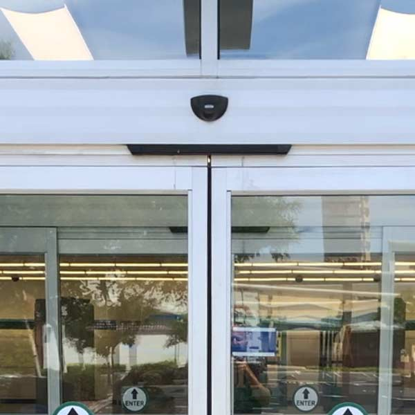 recently installed automatic doors