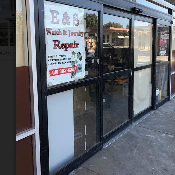 a storefront repair done by our team