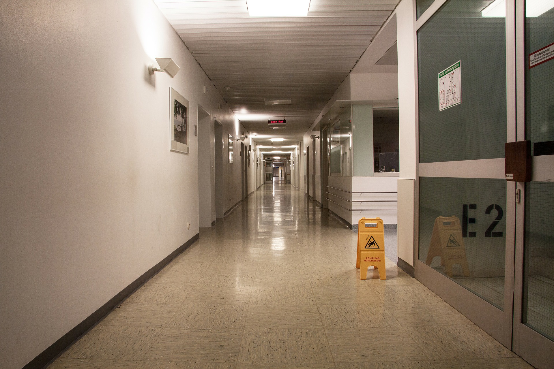 automatic doors in a medical center