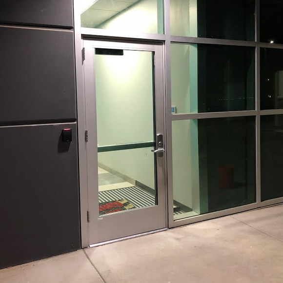 our team installed this commercial door in Placerville