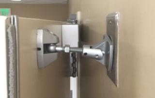 how do you make a heavy door easier to open?