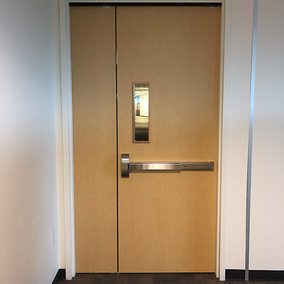 our team installed a new commercial door in Diamond Springs