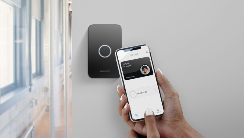 Opening an ACS enabled door with a smartphone