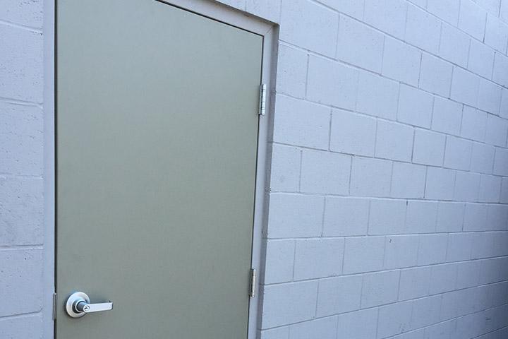 should I grout my steel door's frame?